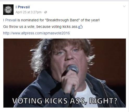 I Prevail APMA Nomination