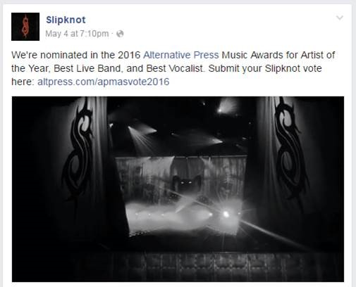 Slipknot APMA Nomination